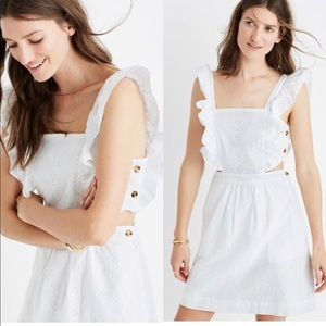 Madewell eyelet cut out dress